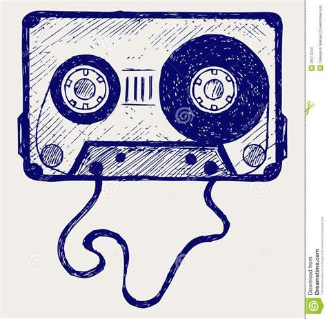 doodle cinta cinta de casete audio imagenes de archivo imagen 29413244