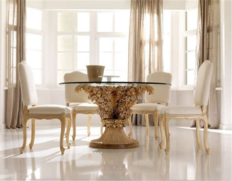 minimalist futuristic glass dining room tables chairs