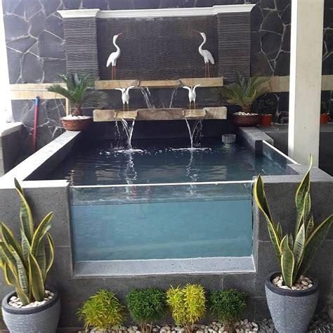 kolam ikan mini  kaca taman depan rumah kolam ikan minimalis pinterest minis pond