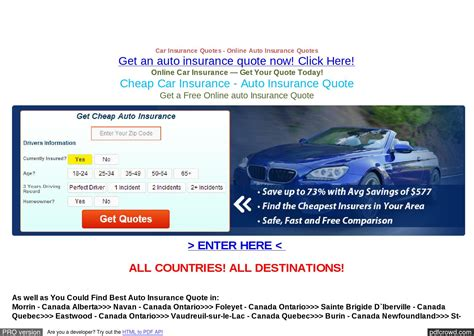 Car Insurance Free Quotes Canada   44billionlater