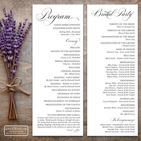 Printable Wedding Program Design Pdf The By Rachelsprintables