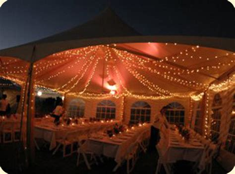 outdoor evening reception how to light a tent weddingbee