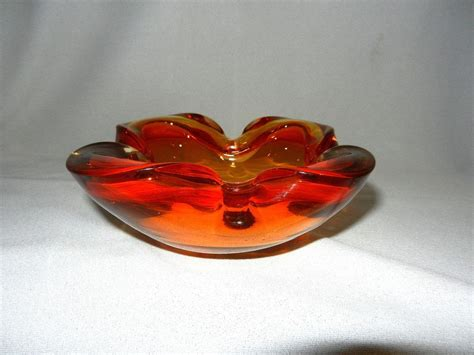 Vintage Murano Glass Bowl Or Ashtray From