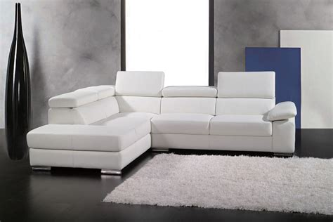 dl couch canap 233 d angle en cuir italien 5 places helios blanc