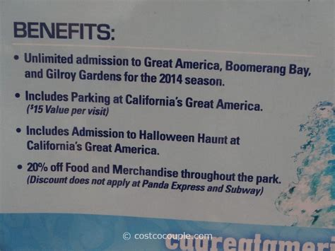 What Gift Cards Does Costco Sell - great america 2014 season pass