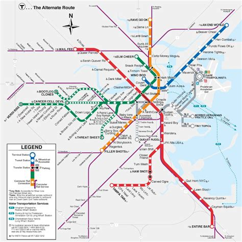 boston map with t stops boston anagram t map