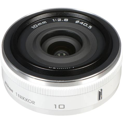 Nikon Lensa 10mm F 2 8 nikon 1 nikkor 10mm f 2 8 lens white 3320 b h photo