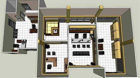 layout kantor sederhana pekerjaan interior kantor pln rayon samboja kukar samboja