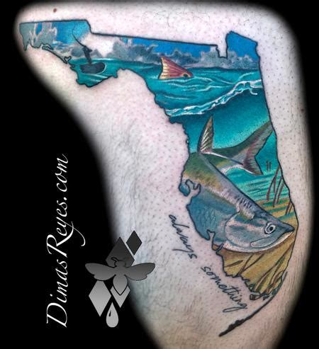 redfish tattoo realistic color snook redfish florida fishing by dimas