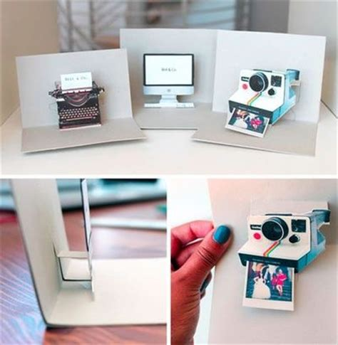 typewriter pop up card template diy imac polaroid and typewriter pop up name cards by