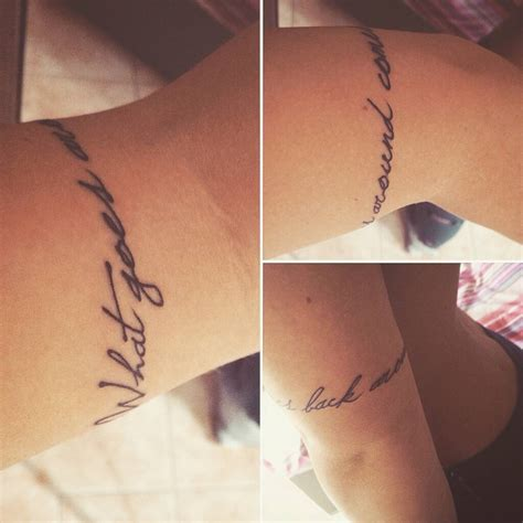 what goes around comes around tattoo quot what goes around comes back around quot armband on