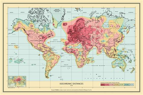 wellingtons travel  isochronic world map