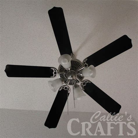 Spray Paint Ceiling Fan by Callie S Crafts Ceiling Fan Makeover