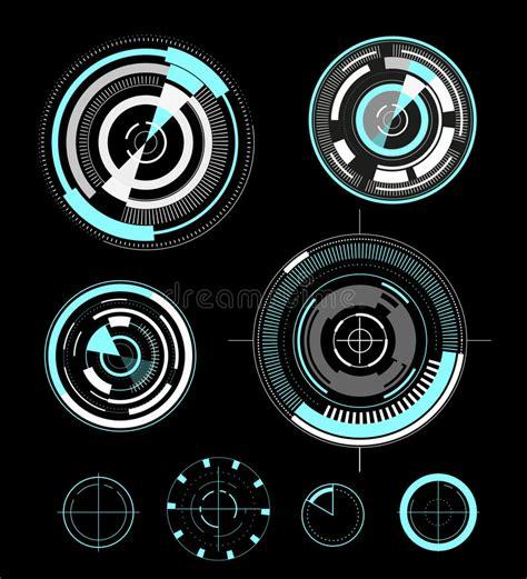 ui design elements vector vector futuristic user interface design elements stock