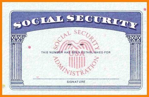 ssn card template psd social security card template template ideas