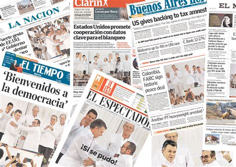 How The Media Covered The How The World Media Covered Colombia S Peace Signing The City Paper Bogot 225