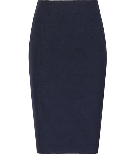 topaz skirt navy fitted pencil skirt reiss