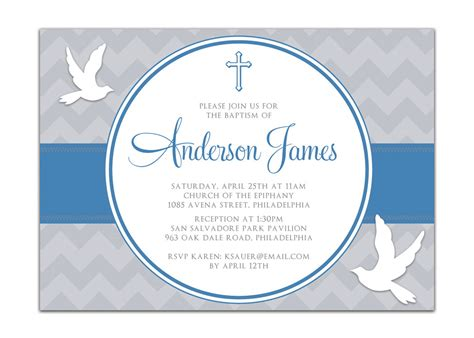 boy baptism invitation templates cloudinvitation com