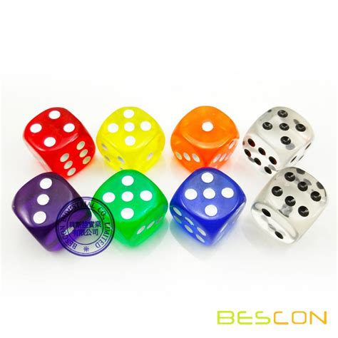 19mm Dice china 3 4 quot 19 mm transparent casino dice