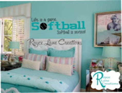 softball bedroom softball decal is a softball is serious softball b32 wall decal for room