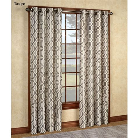 grommet curtain panels creston patterned grommet curtain panels