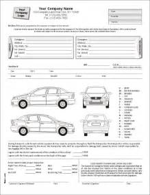 auto condition report form with terms on back item 7563