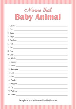 Name That Baby Shower Answers by Free Printable Baby Shower With Answers Printable