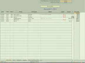 bank transaction register template build your own simple linux banking tool software