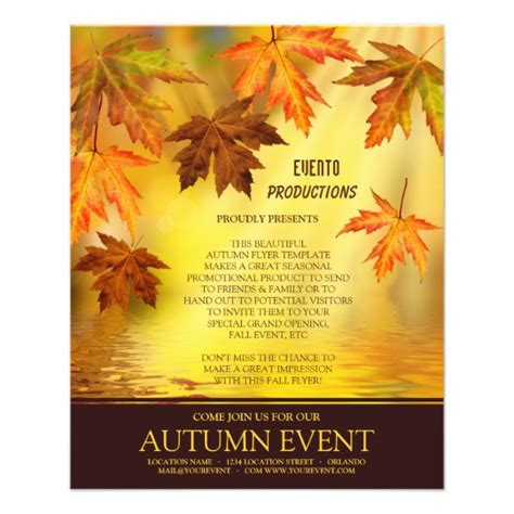 Fall Festival Or Thanksgiving Flyer Template Zazzle Com Fall Festival Invitation Templates