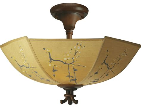 Asian Lighting Ceiling Paradise East Semi Flush Mount Asian Ceiling Lighting By Northcoastlighting
