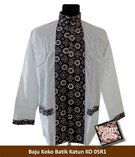 Baju Koko Ihsan Motif Batik jual baju koko batik katun motif batik list tengah batik