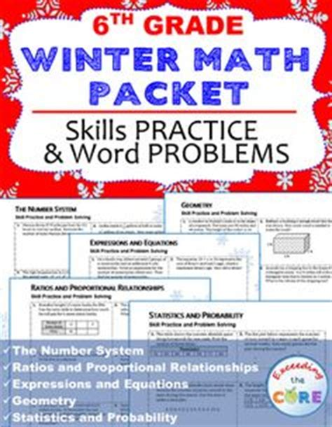 resources for summer packets middle school 7th grade 6th grade math winter packet answers exceedingthecore s