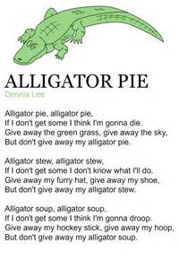alligator pie poem by dennis practice for the