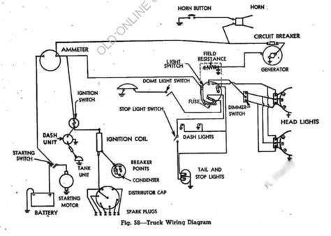 1958 chevrolet truck wiring diagram chevrolet truck wiring