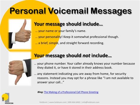 Business And Personal Professional Voicemails Business Phone Greetings Template