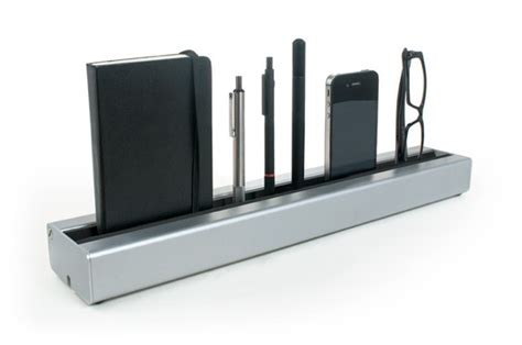 Modern Desk Tidy Deskrail Is A Desk Tidy For The Modern Age Kickstarter Cult Of Mac