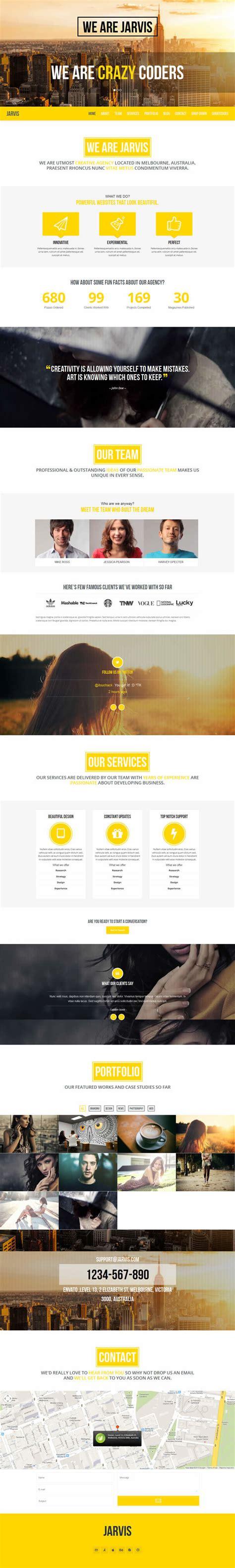 theme wordpress jarvis jarvis onepage parallax wordpress theme webdesignboom