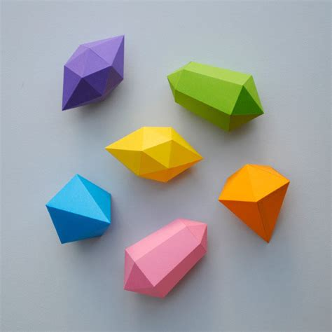 How To Cut Origami Paper - paper gems 183 how to fold an origami gem 183 papercraft and
