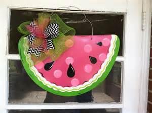 summer door hanger chevron door decor watermelon by 25 best images about watermelon door hangers on pinterest