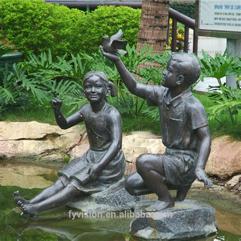 backyard bronze casting black bronze white outdoor garden black bronze white