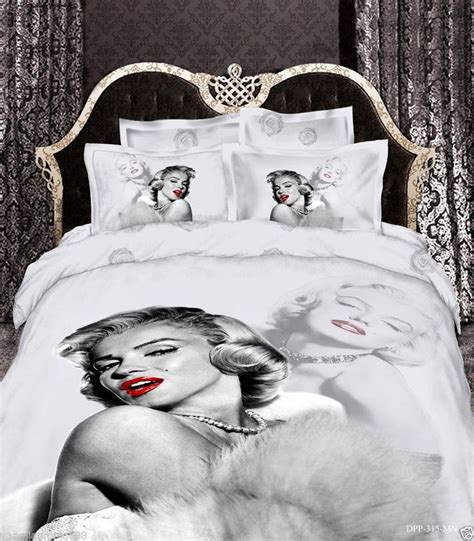 marilyn monroe bedroom sets white gray marilyn monroe 100 cotton queen size duvet