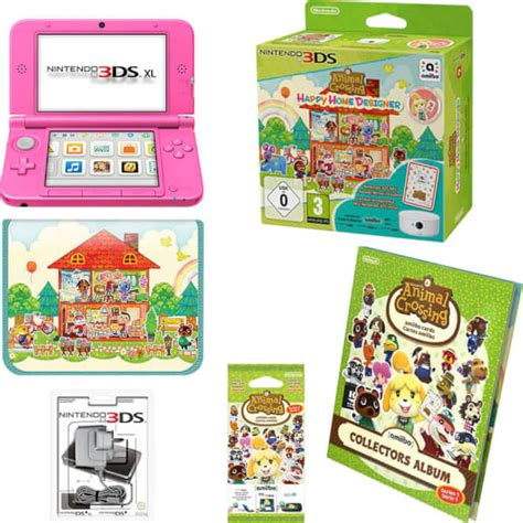 animal crossing 3ds console nintendo 3ds xl pink animal crossing happy home