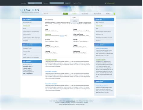 escort directory template elevation template