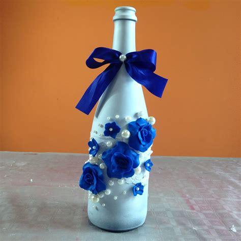 botellas de sidra decoradas para el novio imagenes con diamantina botella decorada para fiesta de boda bottle decorated for