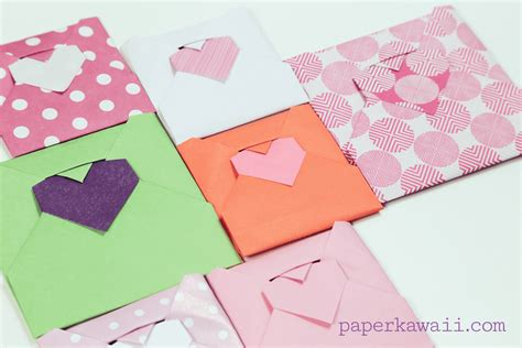 How To Make A Paper Letter Envelope - origami envelope tutorial paper kawaii