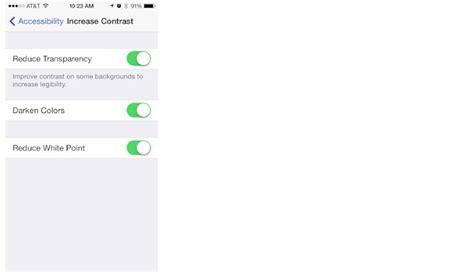 increase contrast  visual accessibility  iphone  ipad imore