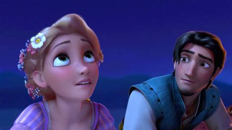 like a boat out of the blue rapunzel is reunited with her hair in tangled s sequel