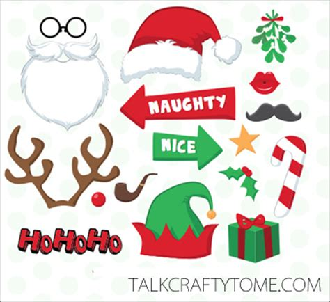 Printable Photo Booth Props Christmas | photo booth prop templates new calendar template site
