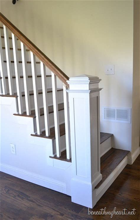 Banister Pole by How To Build A Newel Post Beneath