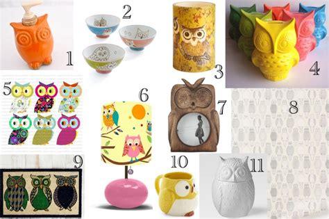 owl home decorations owl cupcakes and home decor ideas